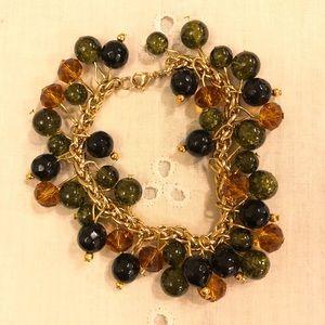 Italian -Glass Beaded Bauble Charm Bracelet